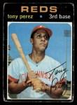 1971 Topps #580  Tony Perez  Front Thumbnail