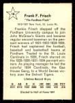 1961 Golden Press #19  Frankie Frisch   Back Thumbnail