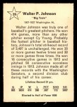 1961 Golden Press #29  Walter Johnson  Back Thumbnail