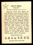 1961 Golden Press #21  Home Run Baker  Back Thumbnail