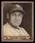 1940 Play Ball #159  Poncho Snyder  Front Thumbnail