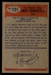 1955 Bowman #121  Andy Robustelli  Back Thumbnail