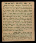 1935 Diamond Stars #47  Cliff Bolton   Back Thumbnail