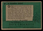 1956 Topps Davy Crockett #8 GRN  Fearful Sight  Back Thumbnail