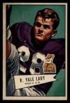 1952 Bowman Large #140  Yale Lary  Front Thumbnail