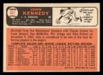 1966 Topps #407  John Kennedy  Back Thumbnail