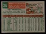 1959 Topps #322 ^TR^ Harry Hanebrink  Back Thumbnail