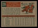 1959 Topps #229  Vic Power  Back Thumbnail