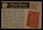 1955 Bowman #246  Hank Bauer  Back Thumbnail