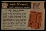1955 Bowman #255  Pete Runnels  Back Thumbnail