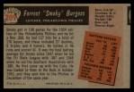 1955 Bowman #209  Smoky Burgess  Back Thumbnail