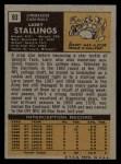 1971 Topps #93  Larry Stallings  Back Thumbnail