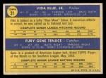 1970 Topps #21   -  Gene Tenace / Vida Blue Athletics Rookies Back Thumbnail