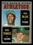 1970 Topps #21   -  Gene Tenace / Vida Blue Athletics Rookies Front Thumbnail