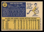 1970 Topps #682  Dalton Jones  Back Thumbnail