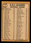 1968 Topps #3   -  Hank Aaron / Orlando Cepeda / Roberto Clemente NL RBI Leaders Back Thumbnail