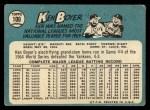 1965 Topps #100  Ken Boyer  Back Thumbnail