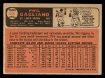1966 Topps #418  Phil Gagliano  Back Thumbnail