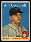 1958 Topps #191  Art Ceccarelli  Front Thumbnail
