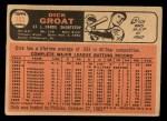 1966 Topps #103 ^TR^ Dick Groat  Back Thumbnail