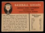 1961 Fleer #140  Riggs Stephenson  Back Thumbnail