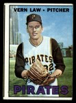 1967 Topps #351  Vern Law  Front Thumbnail