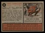 1962 Topps #26  Chris Cannizzaro  Back Thumbnail