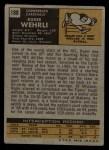 1971 Topps #188  Roger Wehrli  Back Thumbnail
