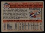 1957 Topps #133  Del Crandall  Back Thumbnail