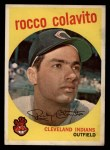 1959 Topps #420  Rocky Colavito  Front Thumbnail