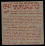 1955 Red Man #4 NL x Brooks Lawrence  Back Thumbnail