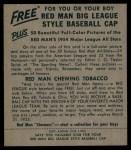 1954 Red Man #24 AL Jim Delsing  Back Thumbnail