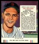 1954 Red Man #24 AL Jim Delsing  Front Thumbnail