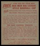 1955 Red Man #17 AL Joe Coleman  Back Thumbnail