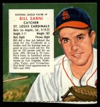 1955 Red Man #9 NL x Bill Sarni  Front Thumbnail