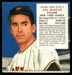 1955 Red Man #6 NL x Sal Maglie  Front Thumbnail