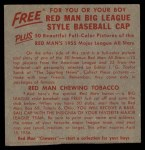 1955 Red Man #17 NL x Pee Wee Reese  Back Thumbnail