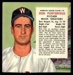 1954 Red Man #18 AL x Bob Porterfield  Front Thumbnail