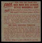 1955 Red Man #25 NL x Marv Grissom  Back Thumbnail