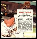 1955 Red Man #25 NL x Marv Grissom  Front Thumbnail