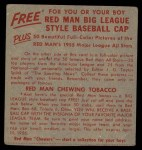 1955 Red Man #18 NL x Red Schoendienst  Back Thumbnail
