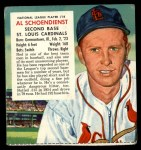 1955 Red Man #18 NL x Red Schoendienst  Front Thumbnail