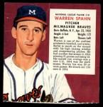 1955 Red Man #10 NL x Warren Spahn  Front Thumbnail