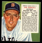 1954 Red Man #11 ALx Jimmy Piersall  Front Thumbnail