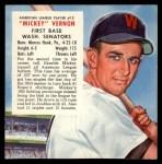1954 Red Man #13 AL x Mickey Vernon  Front Thumbnail