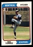 1974 Topps #568  Mike Torrez  Front Thumbnail