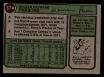 1974 Topps #574  Bill Parsons  Back Thumbnail