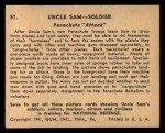 1941 Gum Inc. Uncle Sam Home Defense #51   Parachute Attack Back Thumbnail