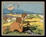 1941 Gum Inc. Uncle Sam Home Defense #51   Parachute Attack Front Thumbnail