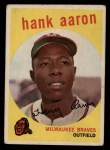 1959 Topps #380  Hank Aaron  Front Thumbnail